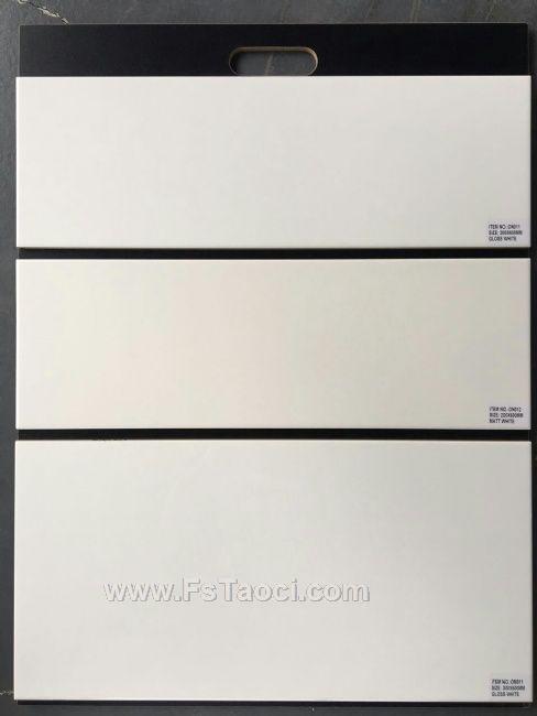 白色瓷片200mm,150mm,100mm规格纯色内墙砖、工程砖