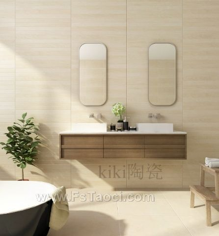 KiKi陶瓷田园木歌小规格瓷砖,打造高雅素净的空间美学