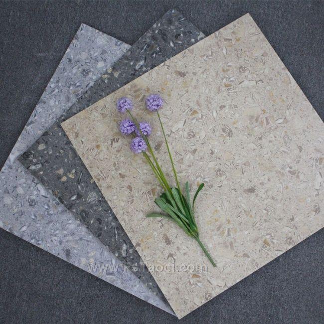 灰色水泥灰仿古砖复古风通体水磨石地板600*600