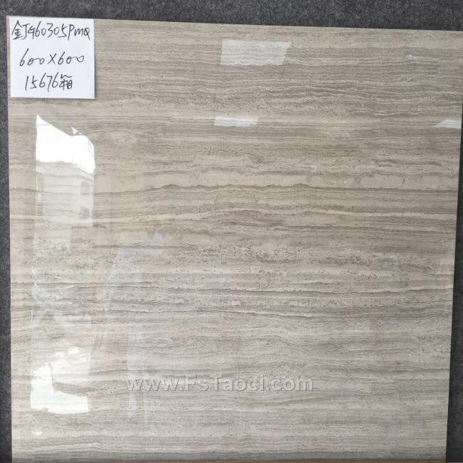 特价大厂灰色仿古砖一级品600*600 灰色大理石纹全抛釉地板砖600800