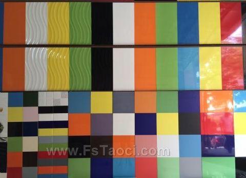 佛山彩色亮光瓷片300*600厨房 卫生间 幼儿园墙面不透水瓷片