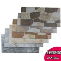 喷墨外墙瓷砖 200*400仿文化砖 别墅花园外墙瓷砖