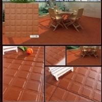 红缸砖150X150 200X200 300X300防潮吸水瓷砖复古红色吸油砖